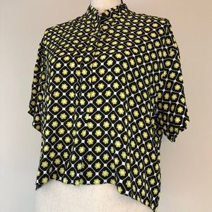 & Other Stories Button front SS floral Blouse
